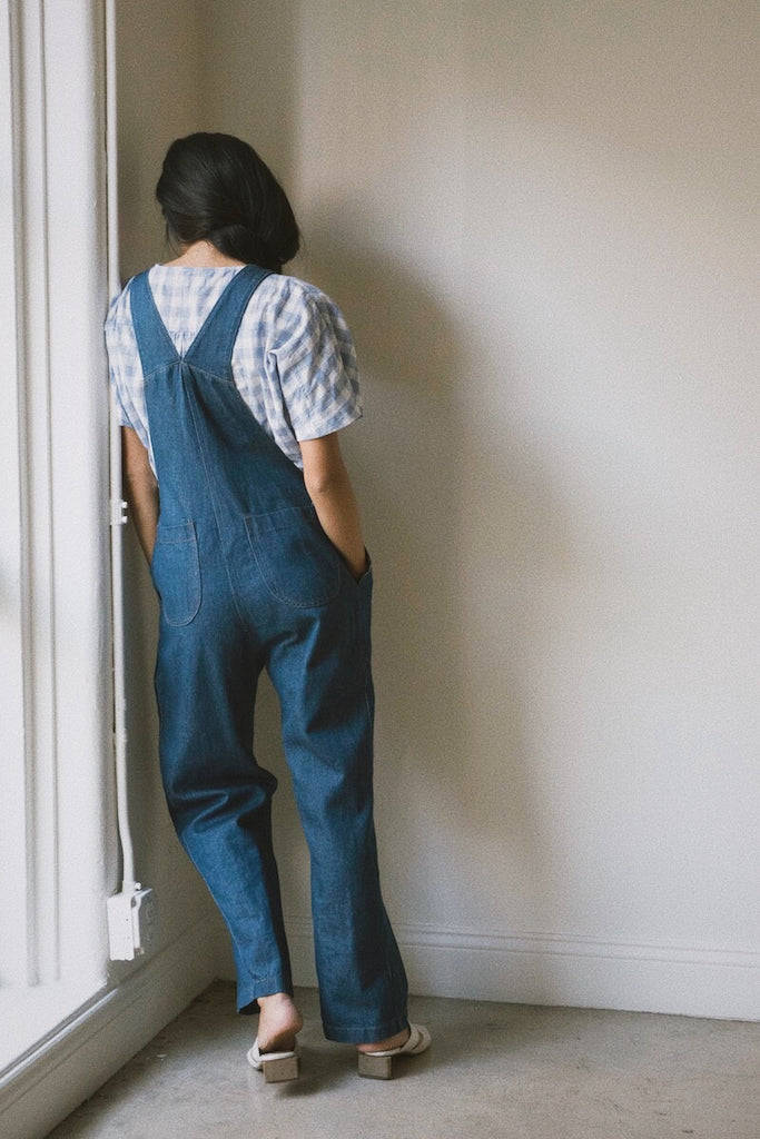 isa overalls in oceanic denim