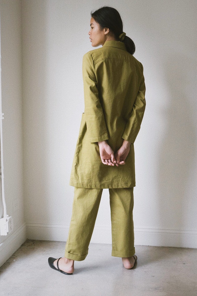 benni jacket in jungle linen