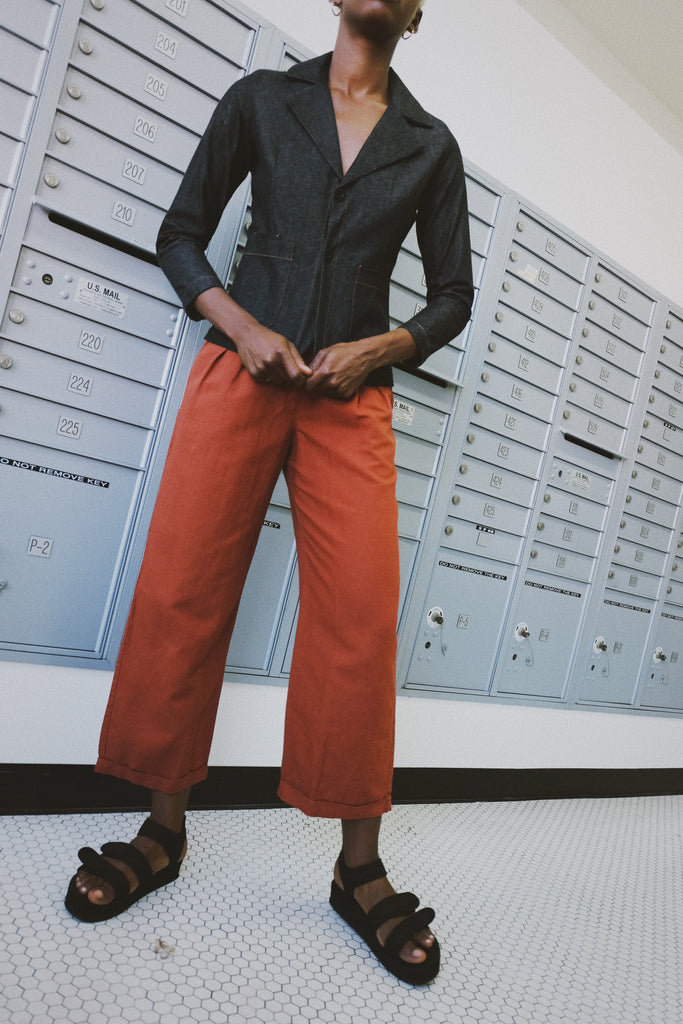 sahara pant in rust