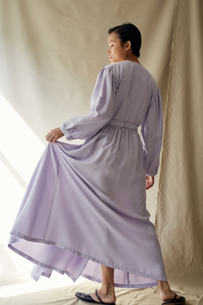 anita dress in lavender