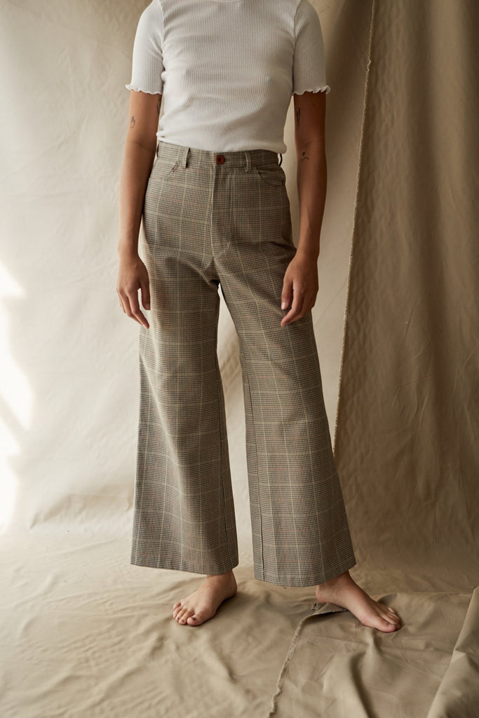 plaid ollie pant