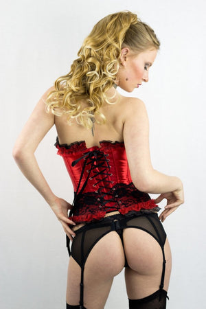 Korsage Moulin Rouge in rot - organza-lingerie