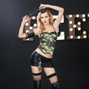 Army Set Pin-Up Vorderansicht - Organza Lingerie