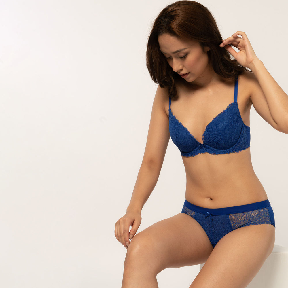 Treasure Push-up BH blau