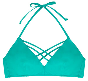 Miami Triangle Bikini Top Mint - organza-lingerie