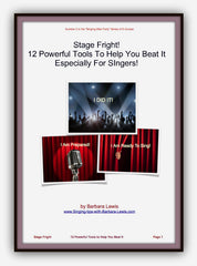 overcoming stage fright - barbara lewis
