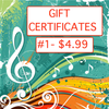 Gift Certificate #1 ($4.99)