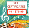 Gift Certificate #4 ($79.99)