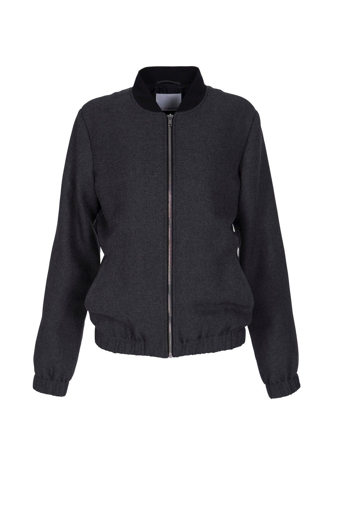 Women's Bomber Jacket with Elastic Hem and Cuff