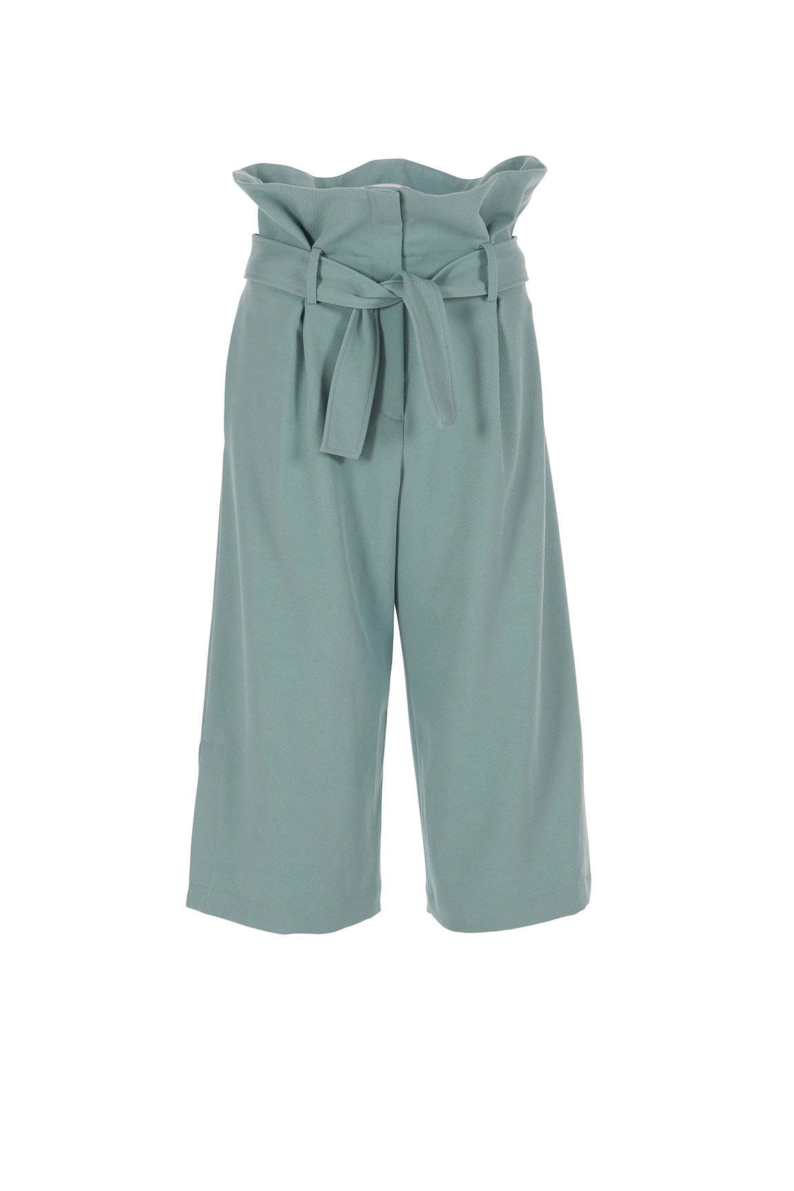 Women's High-Waisted Wide Leg Pant with Split Cuff