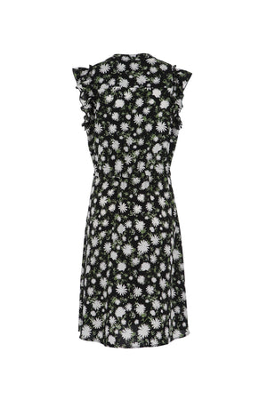 Women's Pintuck Floral Print Teadress