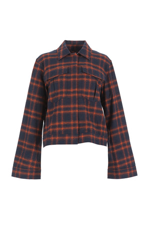 Women's Plaid Harrington Jacket