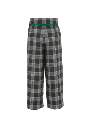 Women's Plaid Wide Leg Pant