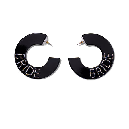 Bride Hoops- Black