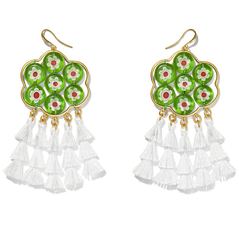 Kata Earrings-Moss