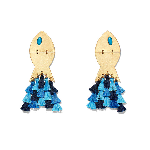 Liliana Earrings- Blue