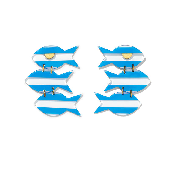 Mara Earrings- Blue