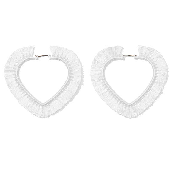 Lula Heart Hoops - White