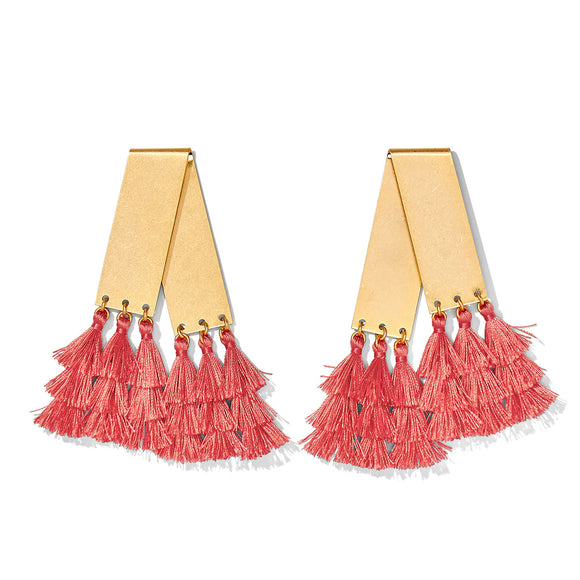 Mambo Earring - Coral