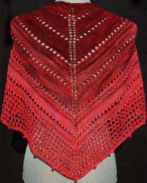 YarnFlower Gradient Shawl #93B