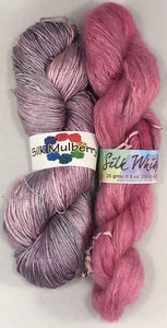 YarnFlower Whisper & Mulberry Wrap 75b