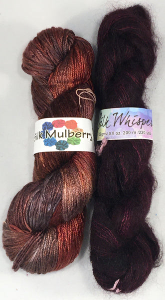 YarnFlower Whisper & Mulberry Wrap 75j