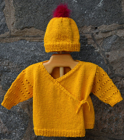 Kids Wrap Cardigan and Hat Pattern