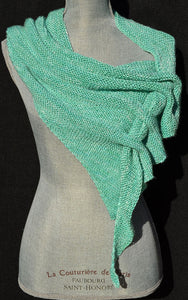 Two Skein Silk Buttonhole Shawl Pattern