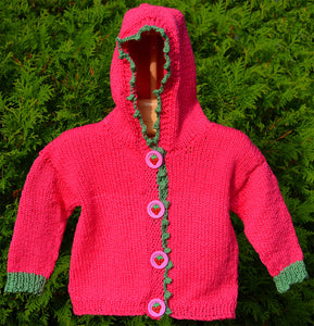 Kids Strawberry Hoodie Pattern