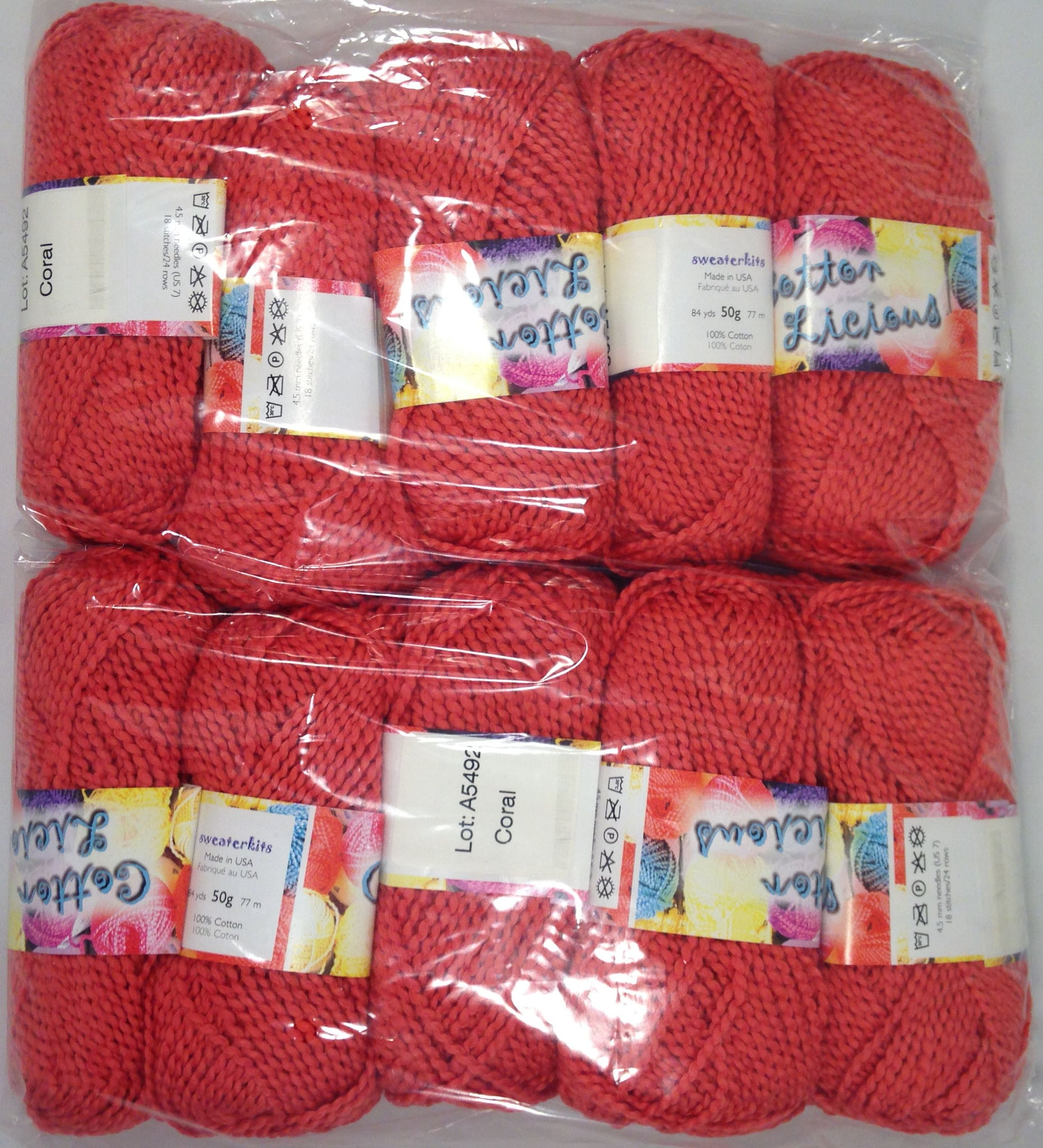 CottonLicious Coral 10 Ball Pack