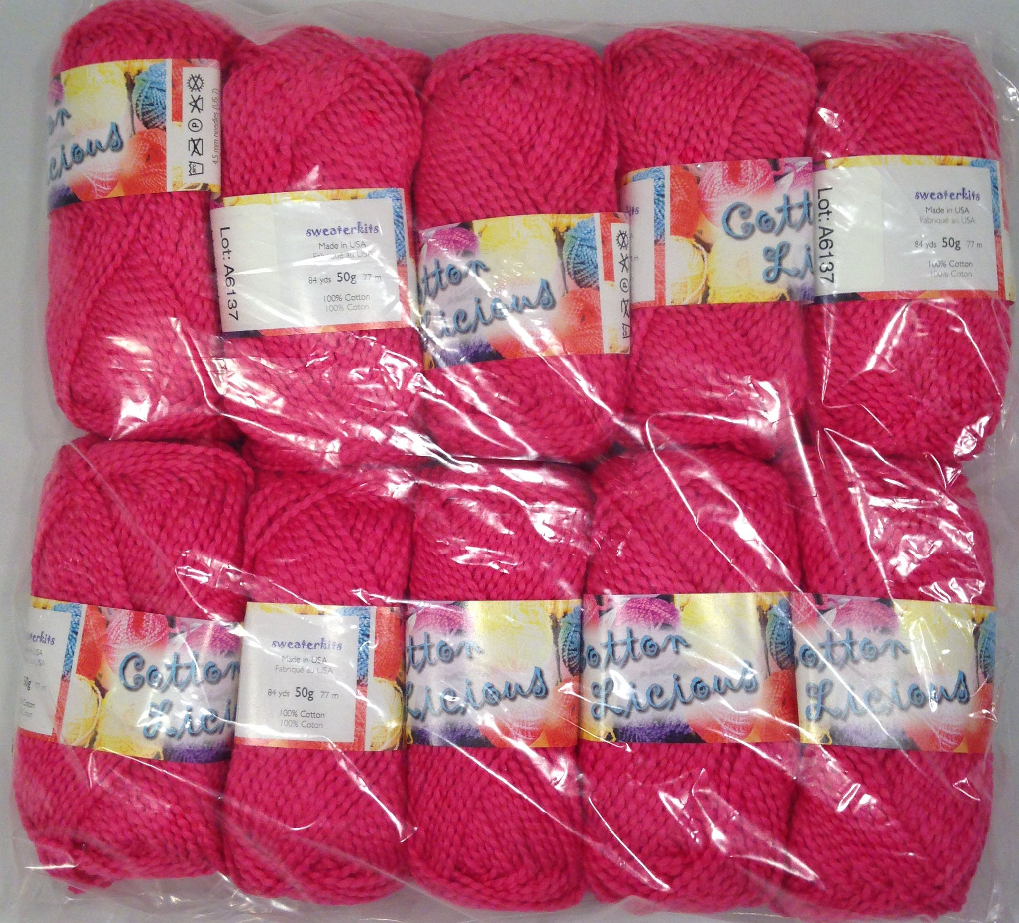 CottonLicious Hot Pink 10 Ball Pack