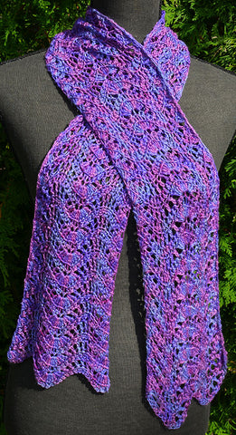 Silk Crochet Scarf Pattern