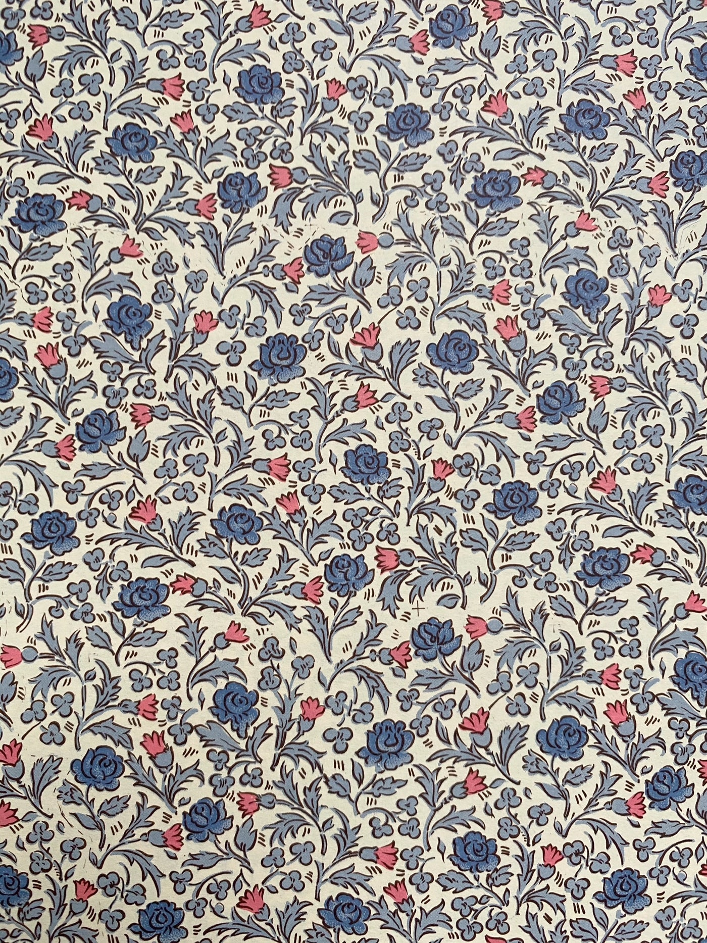 Paper - Blue & red petite flowers