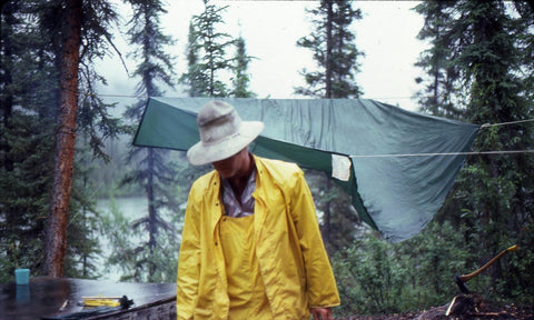 River Man Dr. David Rowe sets up camp (North-West Expeditions)