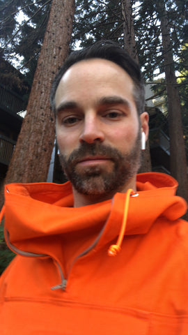 Ian Rowe - Owner North-West Expeditions in the Famous-to-us Orange Anorak Prototype