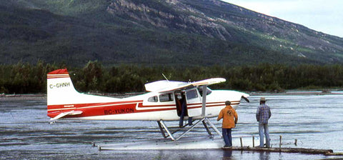 North-West Expeditions White Float Plane Delivers Goods on Nahanni