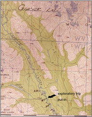 MAP - North-West Expeditions Exploratory Trip Put In