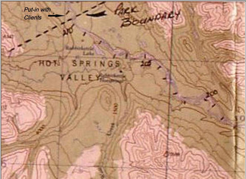 MAP - Close up Nahanni Park Boundry - North-West Expeditions
