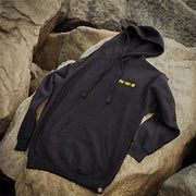 North-West Expeditions Classic Hoodie on Rocks (front)