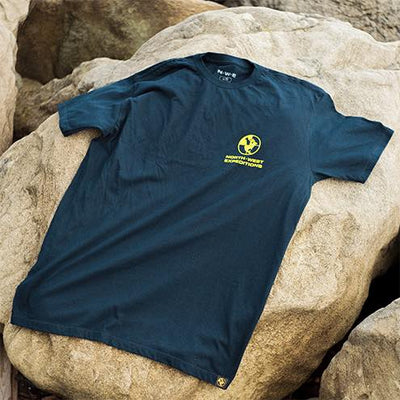 North-West Expeditions Simple Cotton Tee (back on rocks)