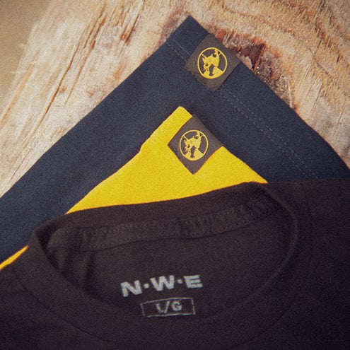 North-West Expeditions Icon Tee (NWE Neck Tag) and Hem Tags for North-West Expeditions Classic Crew and North-West Expeditions Simple Cotton Tee