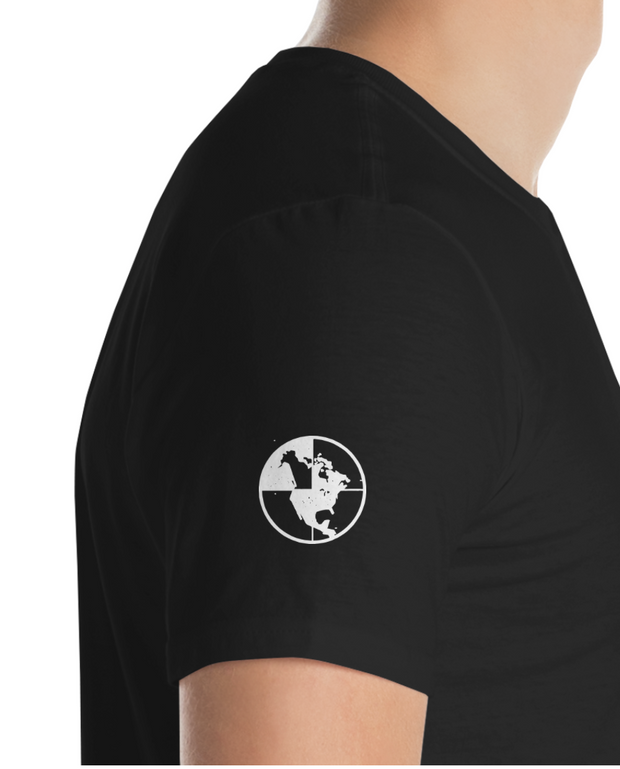 North-West Expeditions Paddle Crew (Black T white Logo - side)
