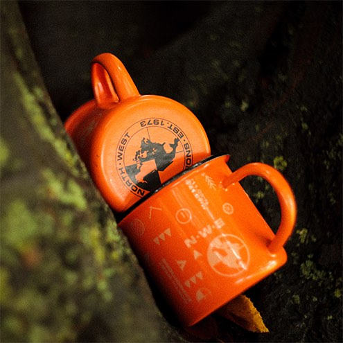 North-West Expeditions Campfire Mugs in a tree