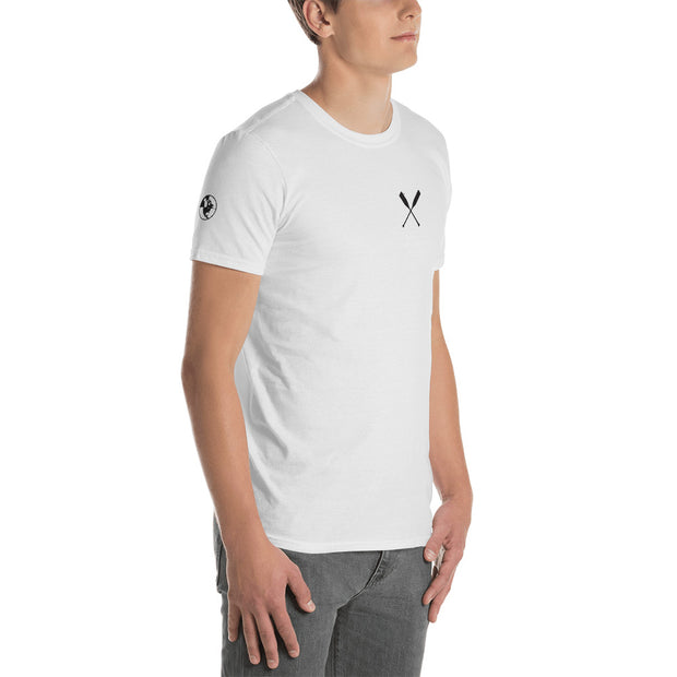 North-West Expeditions White Paddle Crew T-Shirt w Black Logo (angle)