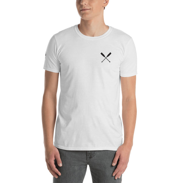 North-West Expeditions White Paddle Crew T-Shirt w Black Logo (Front)