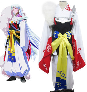 Inuyasha Sesshomaru Kimono Cosplay Costume Tailor Made Any Size