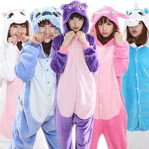 Unicorn Pajamas All in One Pyjama Animal Suit Cosplay Women Winter Garment Cute Animal Unicorn Pajama