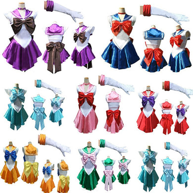 Sailor Moon Japanese Cartoon Movie Cosplay Girl Mercury Moon Mars Dress
