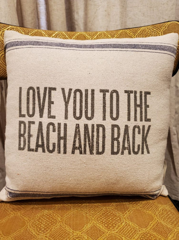 Beach and Back Pillow