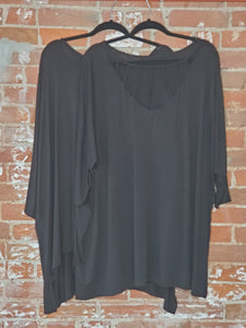 Black Strappy-Back Tunic